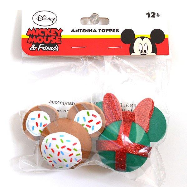 画像1: アンテナトッパー / ミッキークッキー&ミニークリスマスギフト (1)