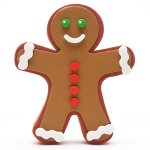 画像1: アンテナトッパー / Gingerbread Man (1)