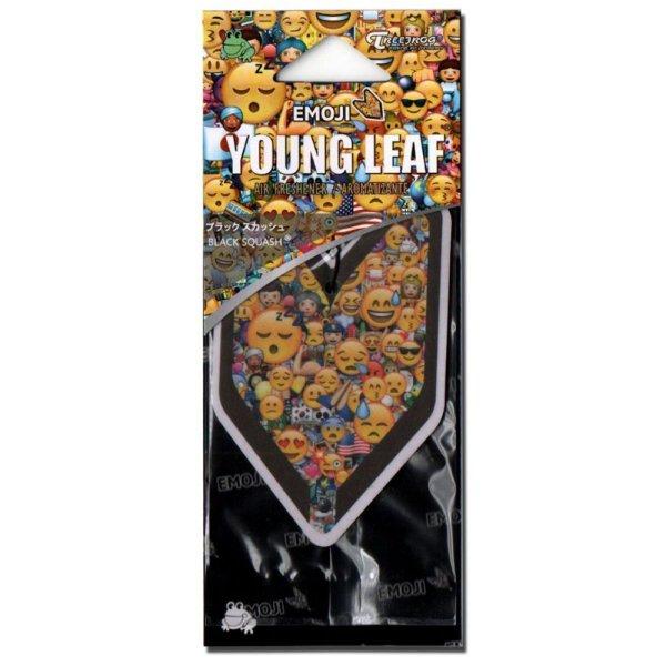 画像1: エアーフレッシュナー / YOUNG LEAF / Emoji Black Squash (1)