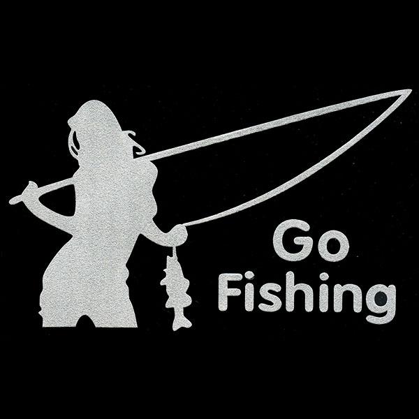 画像1: ステッカー / Go Fishing (1)