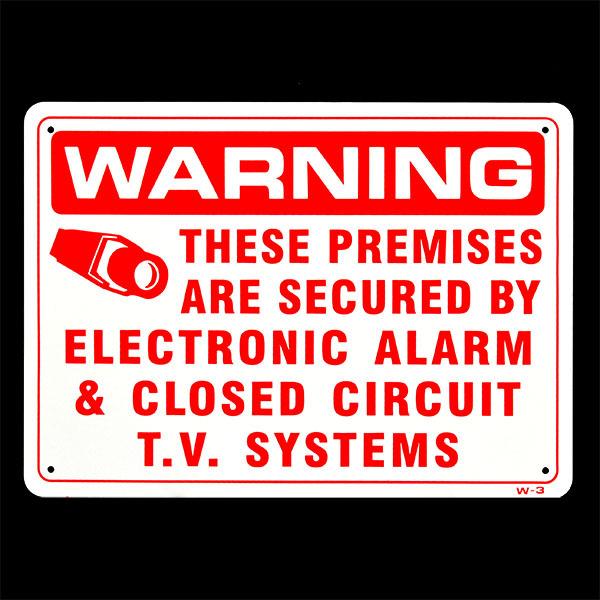 画像1: 【防犯アラーム作動中】WARNING- THESE PREMISES ARE SECURED BY ELECTRONIC ALARM (1)