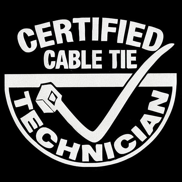 画像1: ステッカー / CERTIFIED CABLE TIE (1)