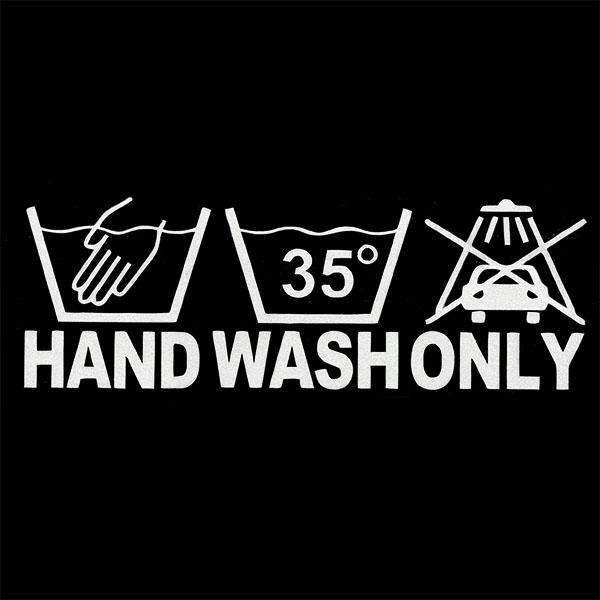 画像1: ステッカー / HAND WASH ONLY (1)