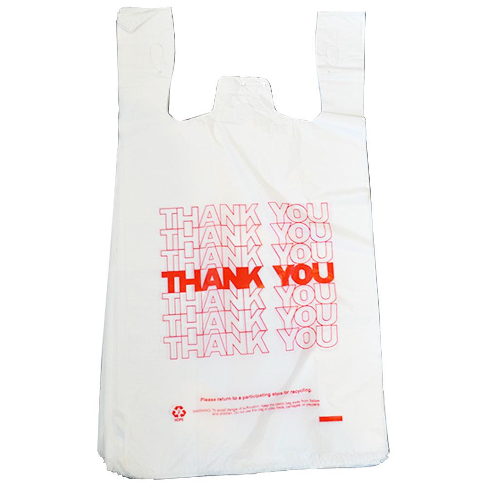 画像1: Grocery Bag (グロッサリーバッグ) Thank Youプリント 50枚パック (1)