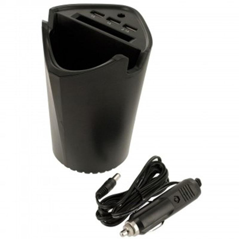 画像1: チャージング USB カーストレージ カップ (1)