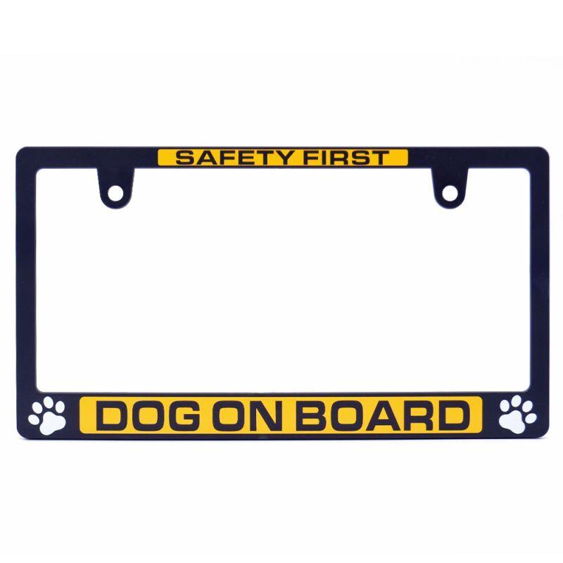 画像1: ライセンスフレーム  / DOG ON BOARD 1枚 ナンバープレート ナンバーフレーム 車用 1枚 車検対応 (1)